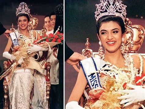 sushmita sen gown miss india have to reciprocate the love sushmita sen during miss