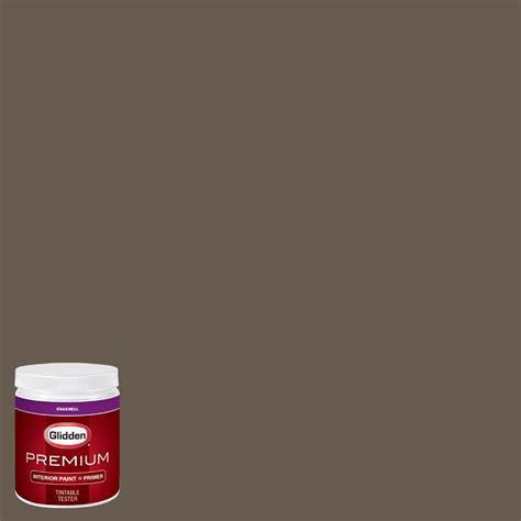 glidden premium 8 oz hdgwn26d cedar brown eggshell interior paint with primer tester hdgwn26dp