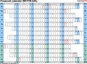 financial calendar template financial calendars 2017 18 uk in pdf format