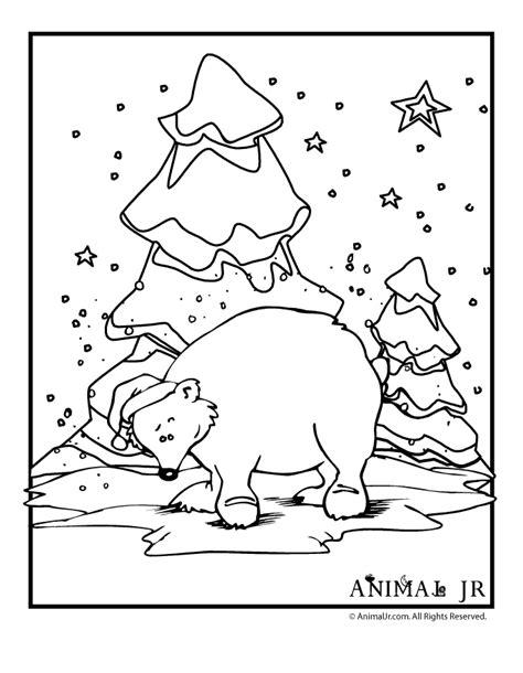 winter bear coloring page polar bear coloring page woo jr kids activities