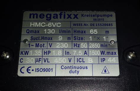 Vertikaler Garten 1350 hmc6vc vertikale kreiselpumpe 6 5 bar 1350 watt 6 5 bar