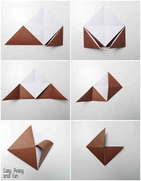 How To Make An Origami Corner Bookmark - reindeer origami corner bookmark easy peasy and