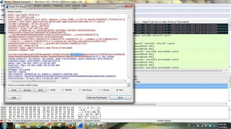 wireshark tutorial sniffing passwords wireshark sniffing password and cookie youtube