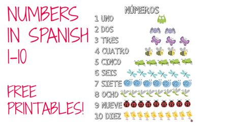printable numbers 1 10 in spanish free printables numbers in spanish 1 10