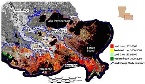 louisiana coastal erosion map wetlands and coastal erosion