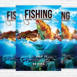 Fishing Tournament Flyer Template by Fishing Premium Psd Flyer Template Cover