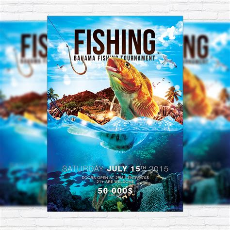 fishing tournament flyer template fishing premium psd flyer template cover