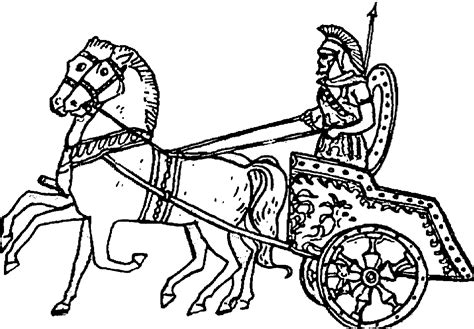 chariot template colouring sheets coloring europe travel