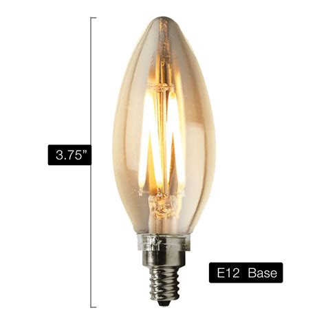40w equivalent 2700k daylight dimmable warm chandelier led