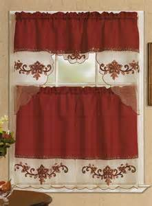 Burgundy Kitchen Curtains Sequins Kitchen Curtain Valance Tiers Set Burgundy 60x36 30x36