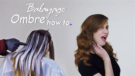 youtube tutorial ombre tutorial beautiful balayage ombre hair technique