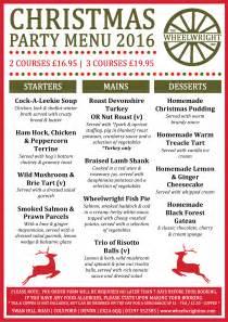 the wheelwright inn christmas party menu