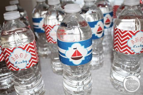 Decorate Water Bottle by Nautical Baby Shower Ideas Peachfully Chic