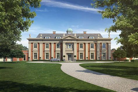 property cgi of the front elevation of a new country house