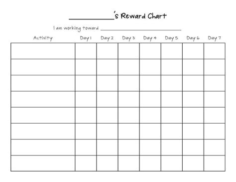 best 25 reward chart template ideas on pinterest