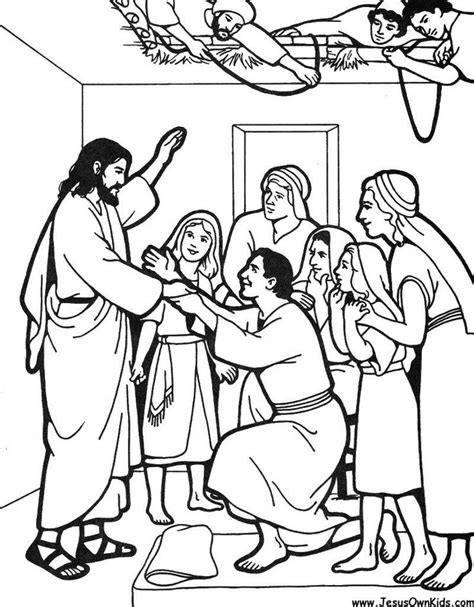 coloring pages jesus heals leper jesus heals paralytic coloring page