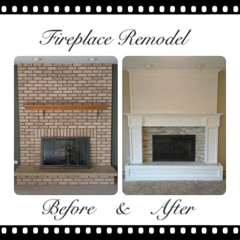 brick fireplace remodel pinteres