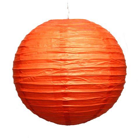 Paper Lantern - 12 quot orange paper lanterns