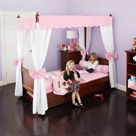 kids canopy bed princess canopy bed in pink and white by maxtrix kids 260 2