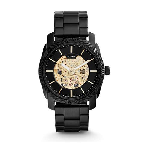 Fossil Machine Automatic Me3080 machine automatic black stainless steel fossil