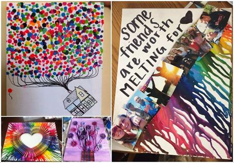 over 50 colorful melted crayon art ideas