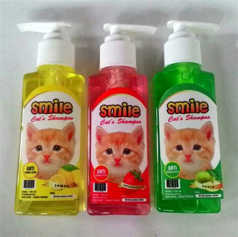 Shoo Kucing Anti Jamur jual so anti jamur kutu kucing smile cat shoo