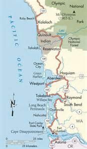 washington and oregon coast map washington coast pacific coast no place like home