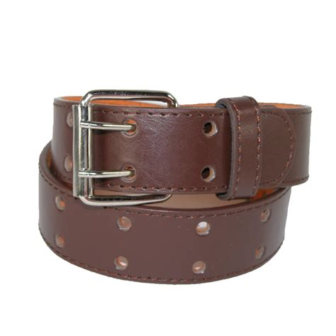 leather two perforated jean belt by ctm