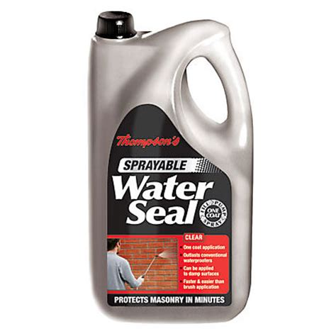 Thompsons One Coat Patio Sealer by Thompsons Clear One Coat Water Seal Ultra 2 5l