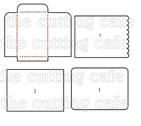 Note Card Cafe Template by The Cutting Cafe Envelope Cutting File Template