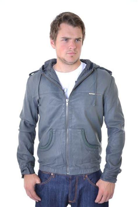 Superdry Black Leather List Grey new mens superdry cropped bomber leather jacket grey ebay