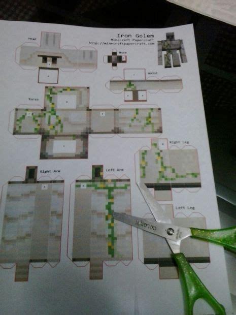 Papercraft Minecraft Iron Golem - minecraft iron golem papercraft
