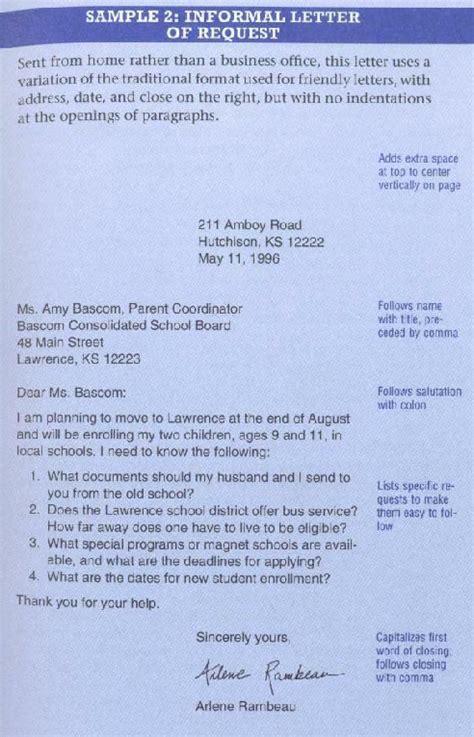 Request Letter Purpose proper informal letter format letter format 2017