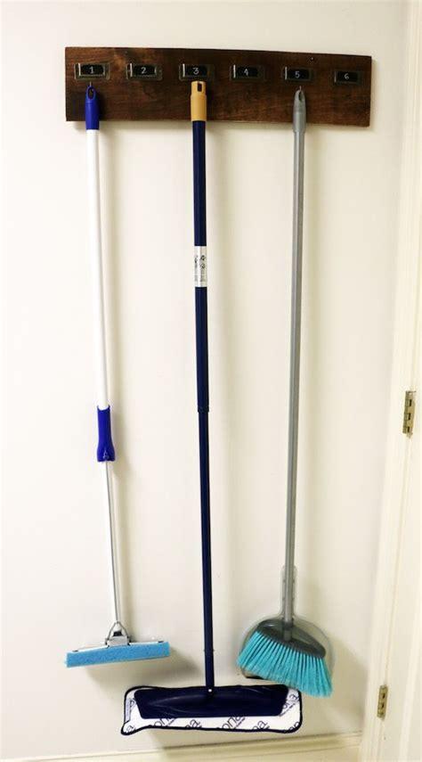 Garage Storage Brooms Best 25 Broom Holder Ideas On Garden Tool