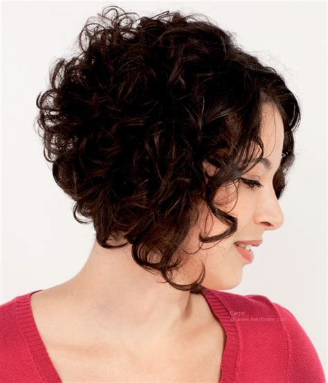 diagonal bob haircut curly hair curly plunging bob with a short back angled bob