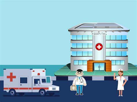 Beautiful Hospital Cartoon Background Respiratory Therapist Education Hospital Presentation Templates