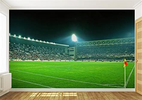 football wall murals for wallpaper mural football stadium fleece photo wallpaper wall murals 306ve 6 415x254cm