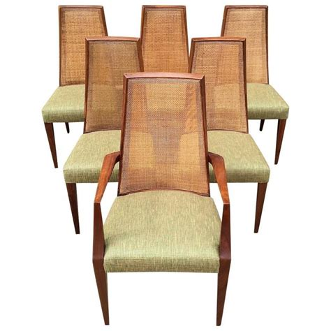 Century Furniture Dining Chairs Mid Century Modern Back Dining Chairs By Grosfeld House At 1stdibs