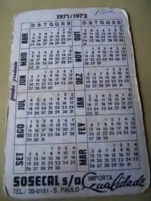 Calendario De 1971 Calend 225 De Bolso 1971 72 Filmes Valca R 15 00 Em