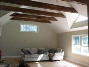 exposed beam ceiling vaulted ceiling exposed beams