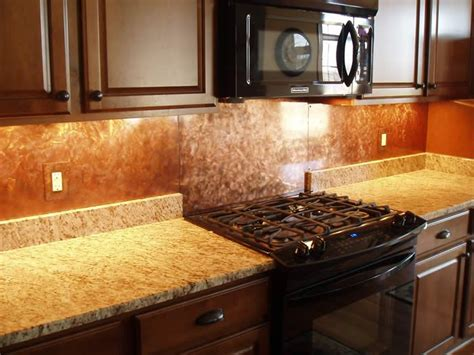 copper kitchen backsplash ideas copper backsplash kitchen ideas best