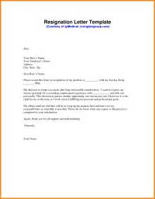Letter Of Resignation Word by 4 Letter Of Resignation Templates Mac Resume Template
