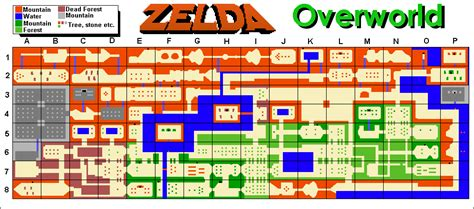 legend of zelda nes map first quest legend of zelda overworld map
