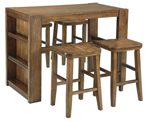 birnalla rectangular counter height storage table from