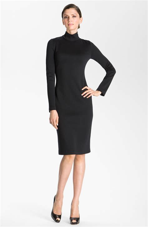 black knit turtleneck dress st collection knit turtleneck dress in black