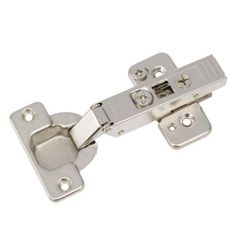 home depot cabinet hinge richelieu hardware nickel plated 120 degree frameless