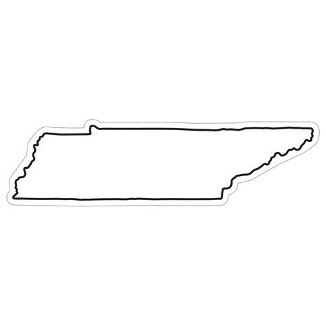 State Of Tennessee Outline by Tennessee Cliparts