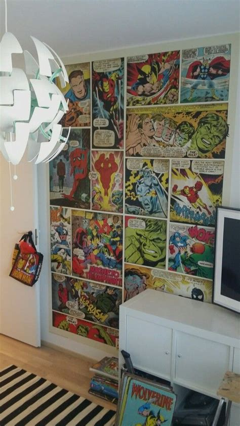 marvel bedroom decor marvel wallpaper our 7 year old boy wished to have marvel