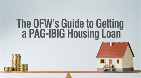 how ofws can apply for pag ibig housing loan in the