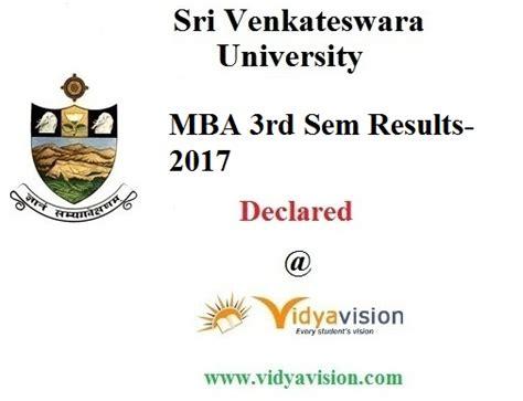 Mba Result 2017 by Sri Venkateswara Mba Iii Semester Afc